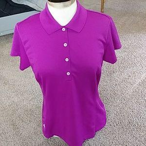 adidas Ladies CLIMALITE Golf Shirt Sz M